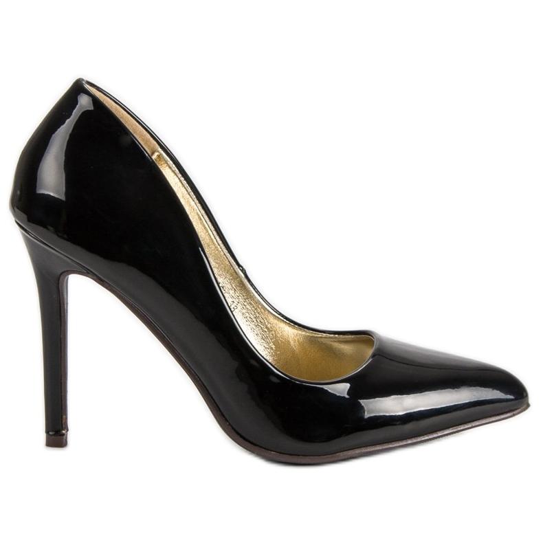 Sweet Shoes Lakierowane Czarne Szpilki