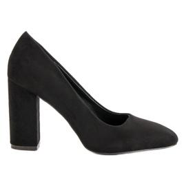 Sweet Shoes Zamszowe Czółenka Na Słupku czarne