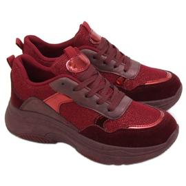 Buty sportowe bordowe B318-18 Wine Red czerwone