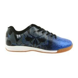Buty halowe Atletico 76520 ['czarny', 'niebieski', 'szary, srebrny'] niebieskie