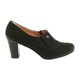 Buty czarne na obcasie Espinto P52/1