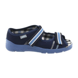Sandałki buty dziecięce na rzepy Befado 969x101 granatowe