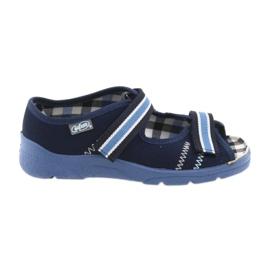 Sandałki buty dziecięce na rzepy Befado 969y101 granatowe