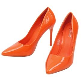 Szpilki damskie pomarańczowe LE03P Orange