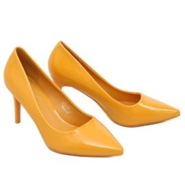 Szpilki damskie żółte LE011P Yellow