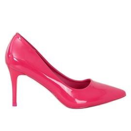 Szpilki damskie fuksjowe LE011P Fushia różowe