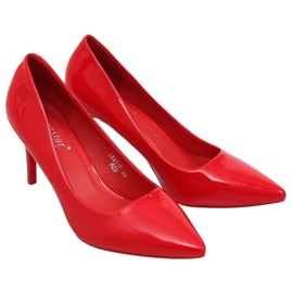Szpilki damskie czerwone LE011P Red