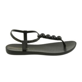 Czarne Ipanema sandały buty damskie japonki z kulkami 82517