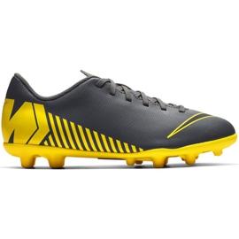 Buty piłkarskie Nike Mercurial Vapor 12 Club Mg Jr AH7350-070 czarne czarne