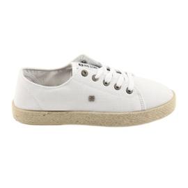 Balerinki espadryle buty damskie białe Big star 274423