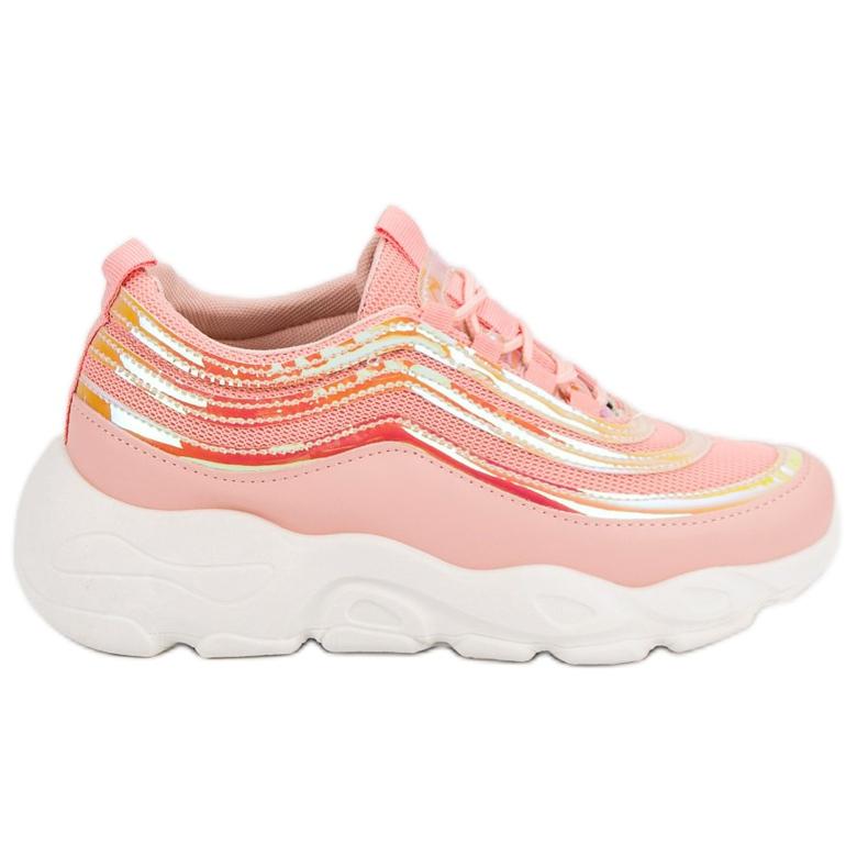 Lekkie Buty Sportowe różowe