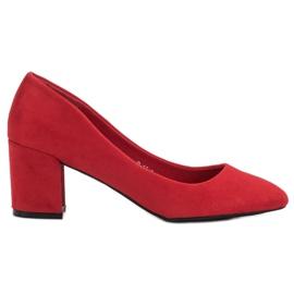 Ideal Shoes Czerwone Czółenka Na Słupku
