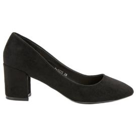 Ideal Shoes Czarne Czółenka Na Słupku