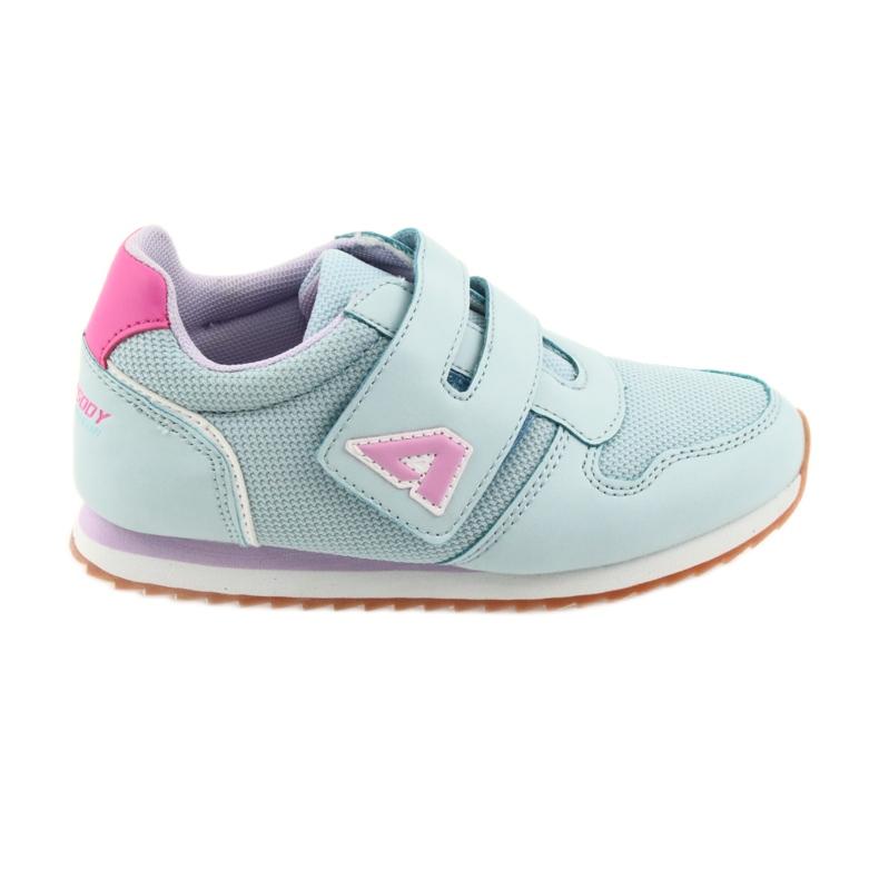 American Club Buty sportowe dziewczęce jogging American fioletowe niebieskie różowe