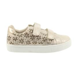 Buty sportowe buty dziecięce kwiaty American Club złoty
