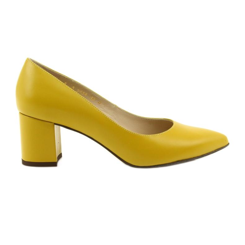 Czółenka buty damskie Anis musztardowe wielokolorowe