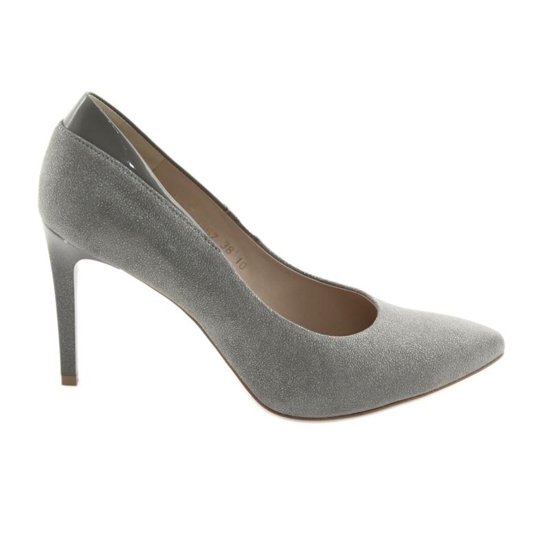 Czółenka na szpilce buty damskie ANIS szare