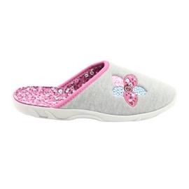 Befado kolorowe obuwie damskie 235D155 fioletowe szare