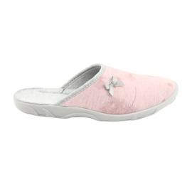 Różowe Befado kolorowe obuwie damskie 235D161