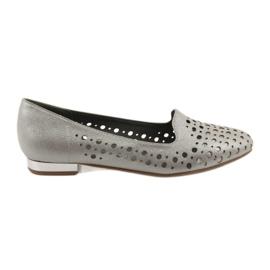 Daszyński brązowe Lordsy buty damskie stylowe ażurowe 151