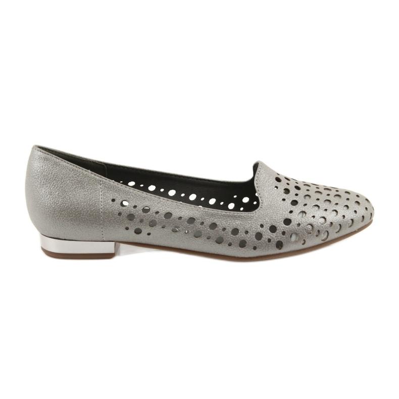 Daszyński Lordsy buty damskie stylowe ażurowe 151 brązowe