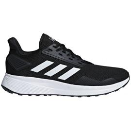 Czarne Buty biegowe adidas Duramo 9 M BB7066