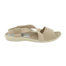 Sandały damskie Adanex 17495 beżowe brązowe