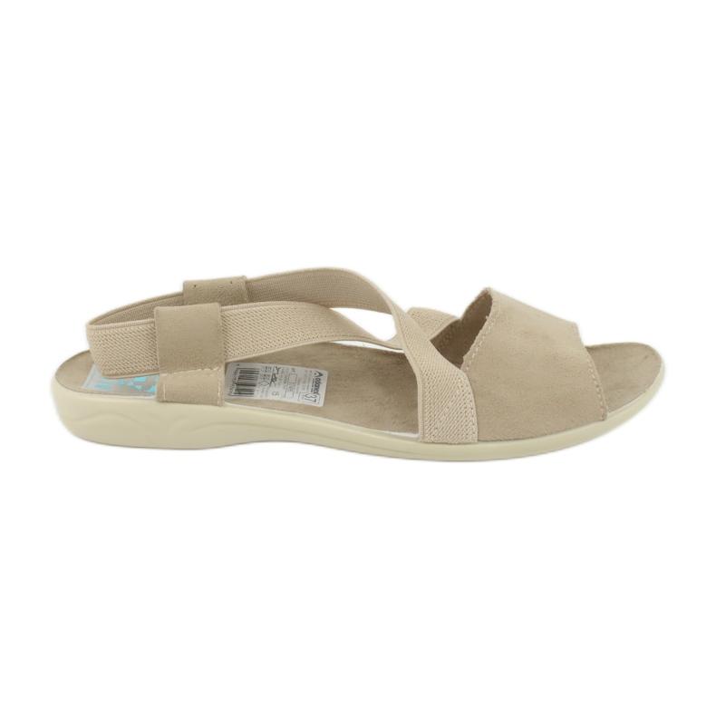 Wygodne sandały damskie Adanex 17495 beżowy