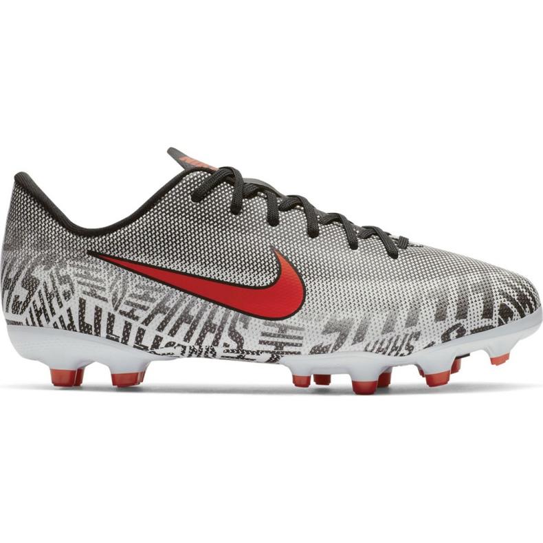 Buty piłkarskie Nike Mercurial Vapor 12 Academy Neymar FG/MG Jr AO2896-170 białe białe