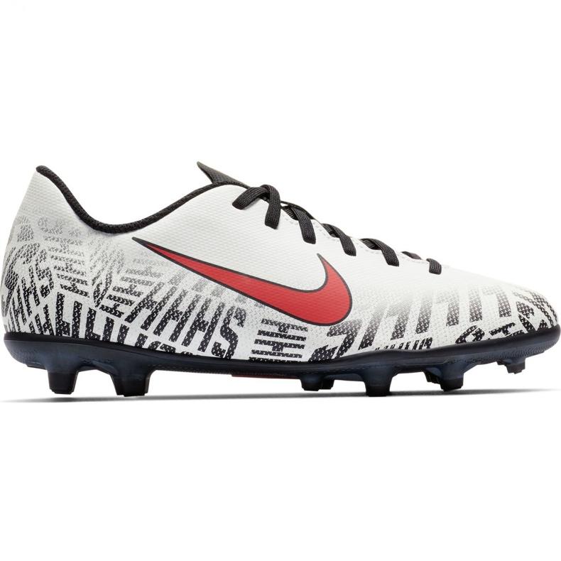 Buty piłkarskie Mercurial Nike Neymar Vapor 12 Club Fg Jr AV4762-170 białe wielokolorowe