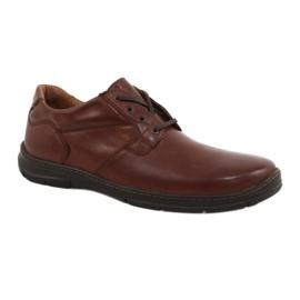 Badura buty męskie komfort 3509 brązowe