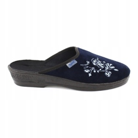 Granatowe Befado obuwie damskie pu 219D426