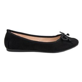 Lucky Shoes Czarne Wiązane Baleriny
