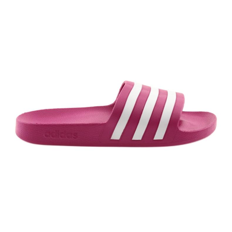 Klapki adidas Adilette Aqua F35536 białe różowe