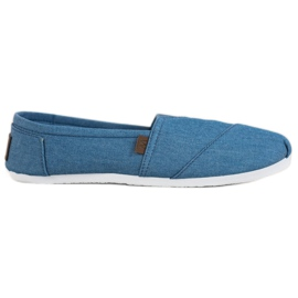 Błękitne Trampki Slip On niebieskie