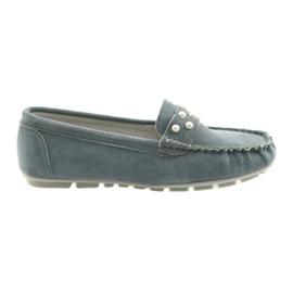 Mokasyny buty damskie Filippo szare