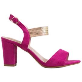 Filippo różowe Eleganckie Sandały Na Słupku