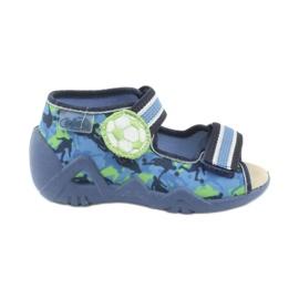 Befado żółte obuwie dziecięce 350P002 niebieskie zielone