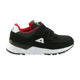 Buty sportowe wkładka skórzana American Club BS09 czarne