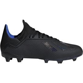Buty piłkarskie adidas X 18.3 Fg Jr D98184 czarne wielokolorowe