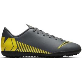 Buty piłkarskie Nike Mercurial Vapor X 12 Club Tf Jr AH7355-070 szare