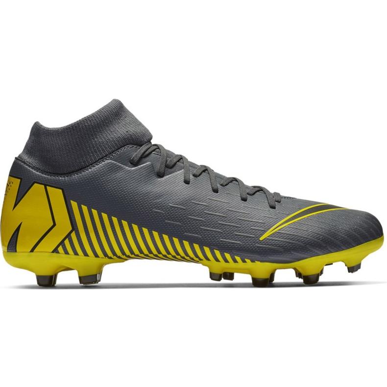 Buty piłkarskie Nike Mercurial Superfly 6 Academy FG/MG M AH7362-070 szare wielokolorowe