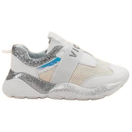Wsuwane Buty Sportowe VICES białe