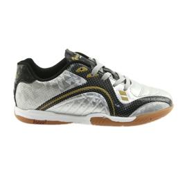 Halówki Sportowe American Club OG13 Silver czarne szare żółte