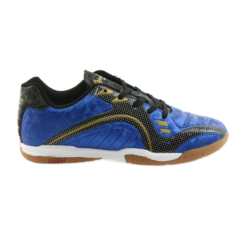 Halówki Sportowe American Club OG13 Royal czarne niebieskie żółte