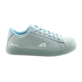 Buty sportowe American Club BS07 wkładka skórzana niebieskie