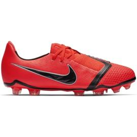Buty piłkarskie Nike Phantom Venom Elite Fg Jr AO0401-600 czerwone wielokolorowe