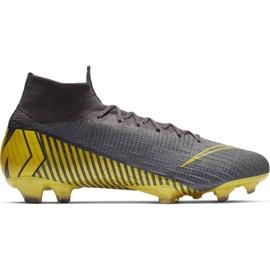Buty piłkarskie Nike Mercurial Superfly 6 Elite Fg M AH7365-070 szare czarne