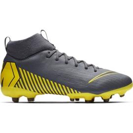Buty piłkarskie Nike Mercurial Superfly 6 Academy Mg Jr AH7337-070 szare wielokolorowe