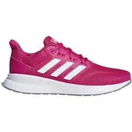 Różowe Buty biegowe adidas Runfalcon W F36219